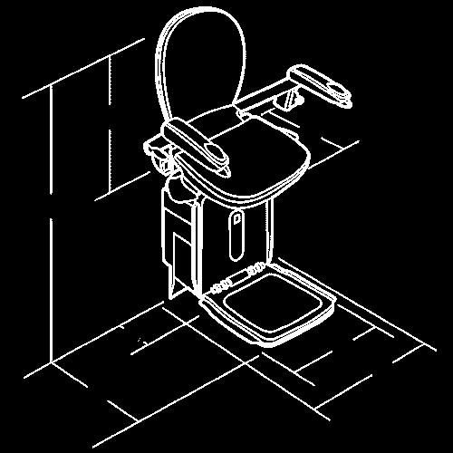 รูปแบบเก้าอี้รางโค้ง Acorn 180
