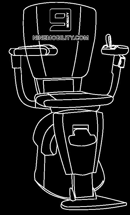รูปแบบเก้าอี้ลิฟท์บันได รางโค้ง Flow 2